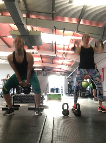 Kettle bell workouts with my gym buddy